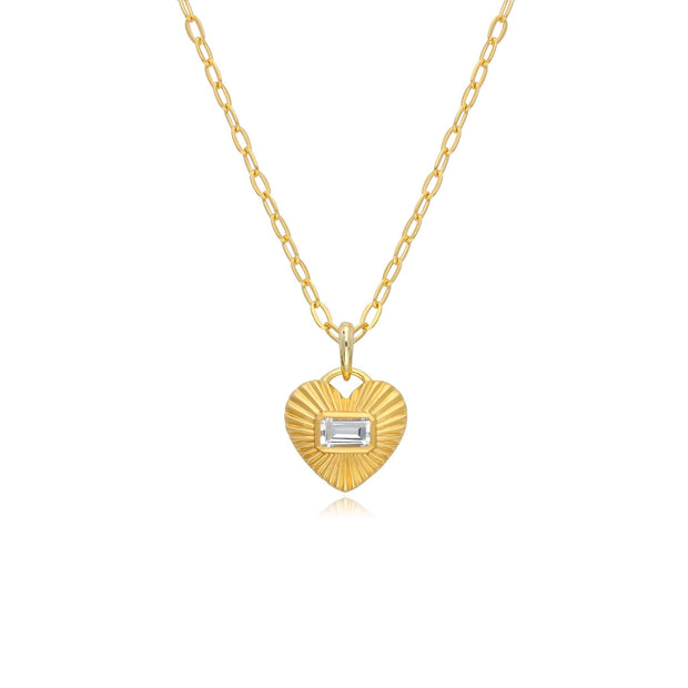 Queen of Hearts White Topaz Necklace