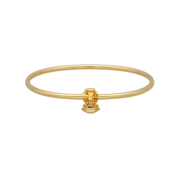 HS Achievement Bangle in Gold Plated Sterling Silver Small