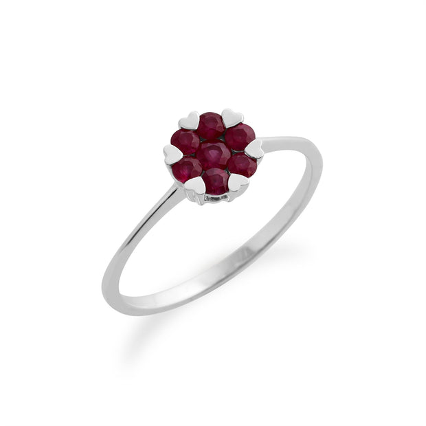 Gemondo 925 Sterling Silver 0.18ct Ruby Ring