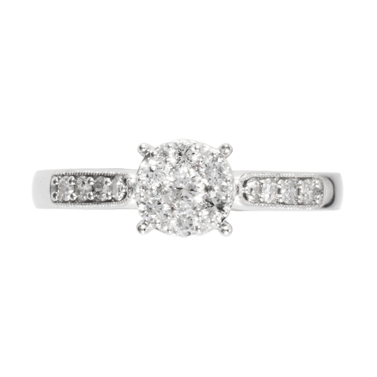 Diamond Solitaire Ring Image 2