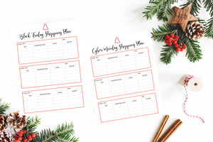 Free Black Friday & Cyber Monday Shopping Planner