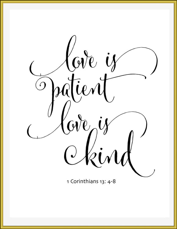 Love is patient, Love is kind 1 Corinthians 13:4-8 - TiraYoungShop