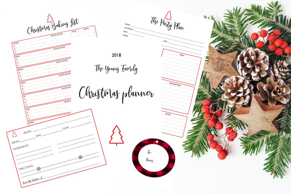 Premier Christmas Planner,  Holiday Planner, Holiday Party Planning, Christmas Party Planning, Gift Giving, Digital Planners - TiraYoungShop