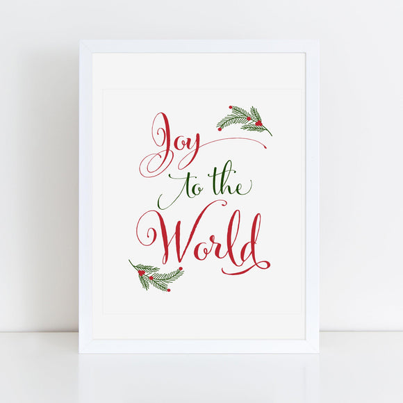 Joy to the World 8x10 Printable - TiraYoungShop