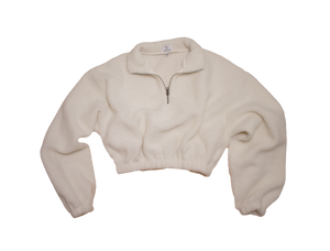 OV Fleece Cropped Pullover