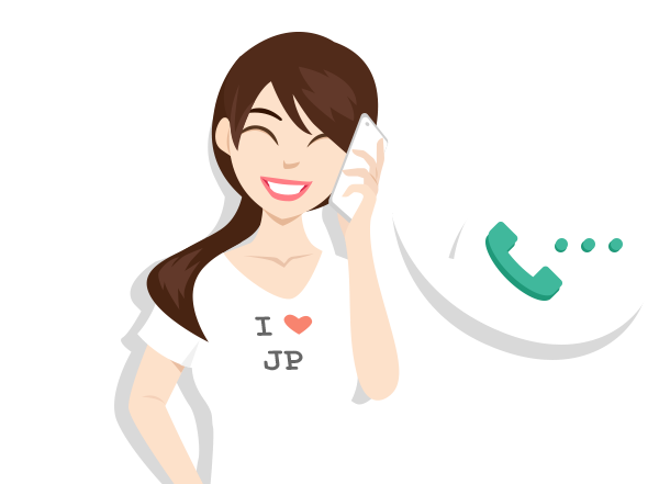 vector image of a girl calling on a phone