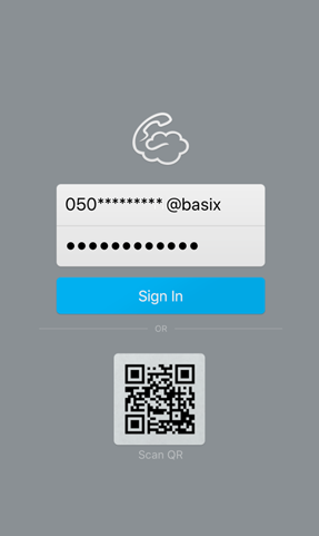 your phone number@basix and Password that you received from JP Mobile. Then tab Sign in