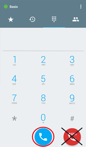 Enter phone number then tab the BLUE 【IP】button to start calling.
