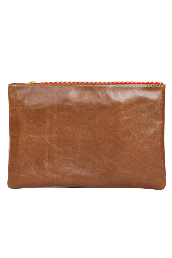 Camo and Cognac Clutch - VENOR