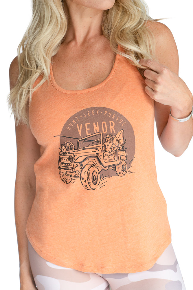 Her Pursuit Tank- Orange