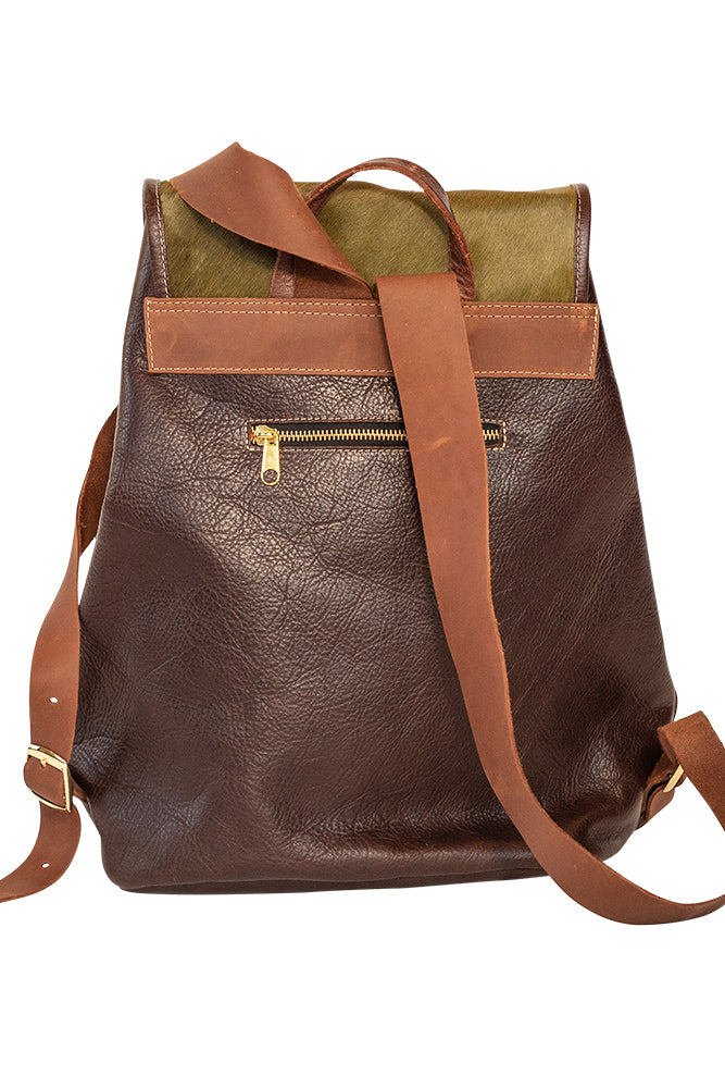 Leather and Hide Backpack - VENOR