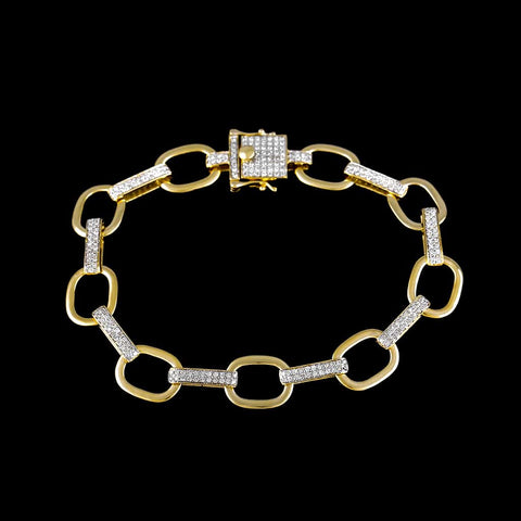 Chain Link Bracelet for Men yellow gold