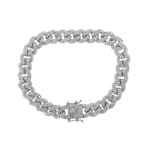 Cuban Link Bracelet white gold