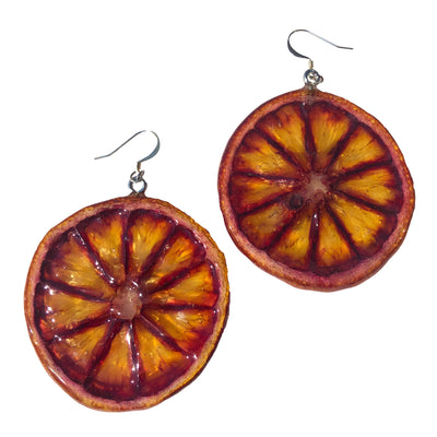 Blood Orange Earrings Medium