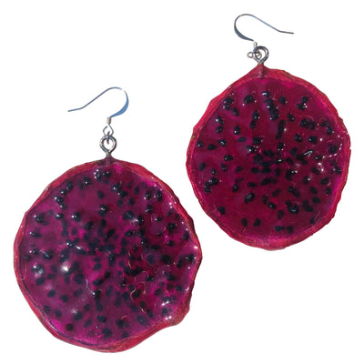 Dragon Fruit Earrings - Red Medium
