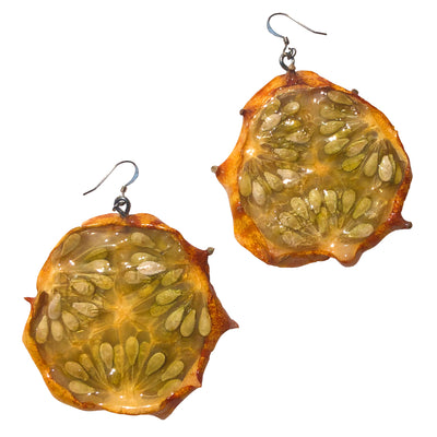 Kiwano Melon Earrings - Medium