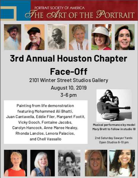 Portrait Society of America | 3rd Annual Houston Chapter Face-Off Event