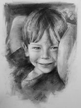 "Load image into Gallery viewer, Custom Portrait - SMALL 9"" x 12"" (22.86 cm x 30.48 cm)"