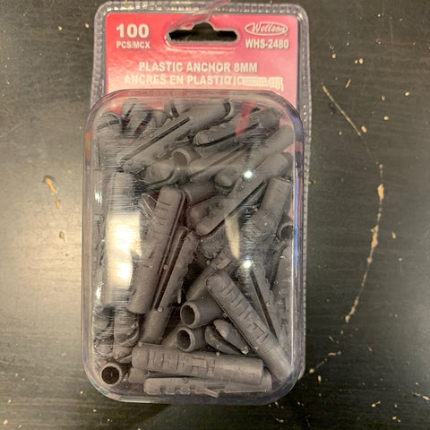 Plastic Anchor 8 mm 100 PK