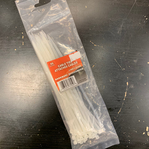 Cable Ties 3.5mmx200mm 50PK
