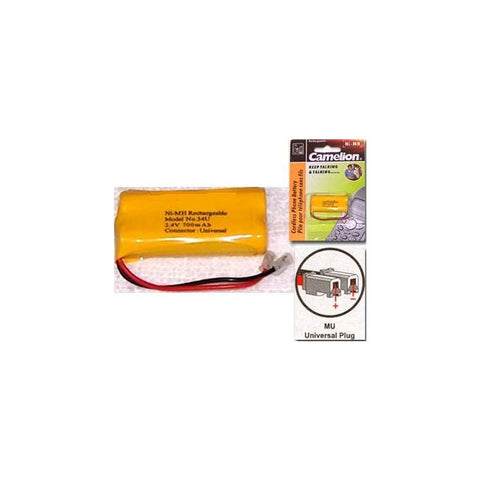 Camelion (34U) NI-MH 2AAA 700MAH RECHARGEABLE CORDLESS PHONE BATTERY