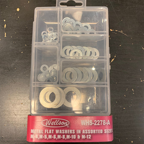 Metal Flat Washers in Assorted Sizes