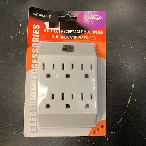6 OUTLETS WALL ADAPTOR