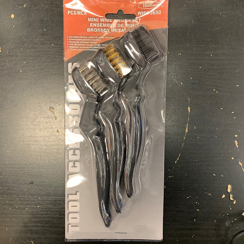 Mini Wire Brush Set 3PK
