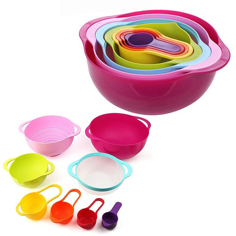 8 pieces Rainbow Measuring Bowl Cup Set