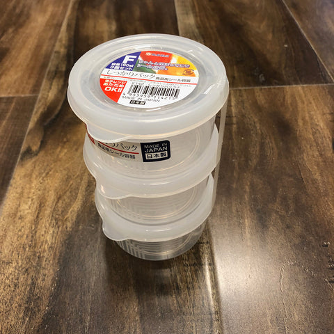 Mini Storage Container w/Lid 3PK