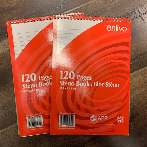 Steno Book 120 pages 152 x 228mm