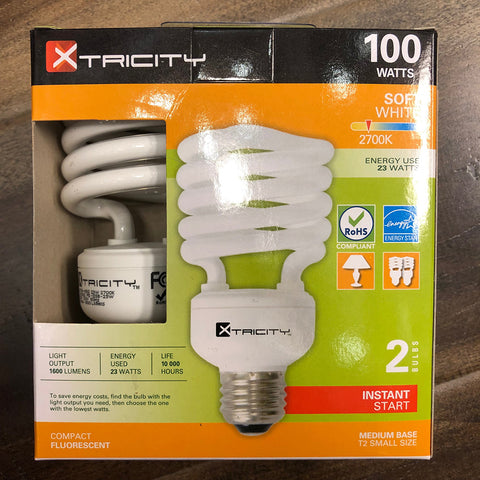 Light Bulbs XTRICITY 100W Soft White 2PK
