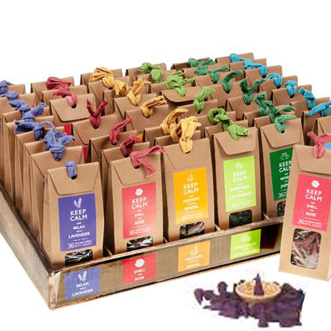 Keep Calm Incense Cones Set 36pcs