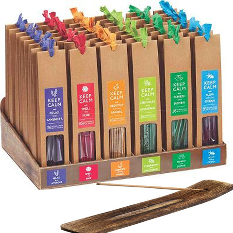Keep Calm Incense Stick Set LONG 36pcs
