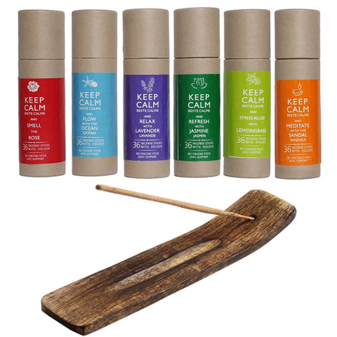 Keep Calm Incense Stick Set 36pcs