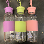 Clear Glass Bottle with Silicone Sleeve
