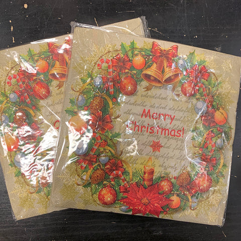 Printed Napkins Pack of 20 XMAS