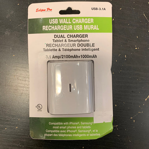 USB Wall Charger Dual Charger Tablet and Smartphone Compatible with Iphone and Samsung