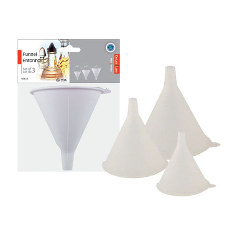 FUNNEL SET PLASTIC 3PCS