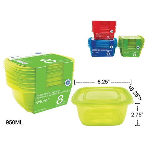 PACKIT PLASTIC AIR TIGHT FOOD CONTAINER (950ML) SET OF 4