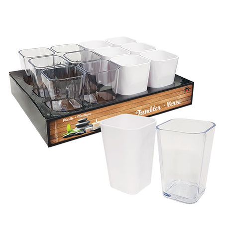 BATH ACCESSORIES - PLASTIC TUMBLER