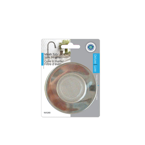 STAINLESS STEEL MESH SINK TUB STRAINER - 7.5 cm outer (4 cm inner)