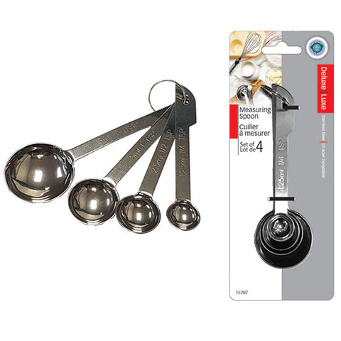 DELUXE STAINLESS STEEL MEASURING SPOONS - SET OF 4