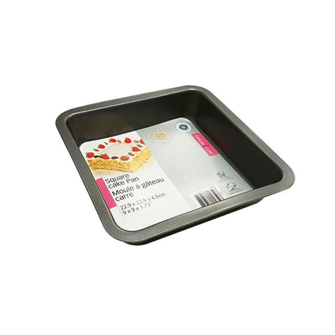NON-STICK SQUARE CAKE PAN 9X9X1.75IN