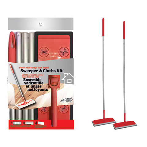 SWEEPER & ELECTROSTATIC CLOTHS STARTER KIT