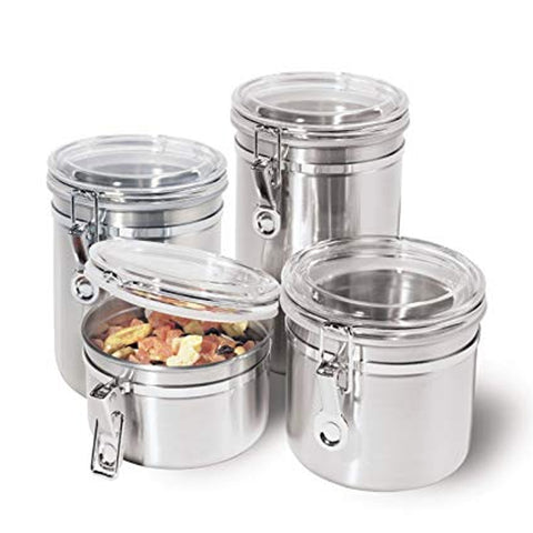 STAINLESS STEEL CANISTER WITH SILICONE AIR TIGHT SET