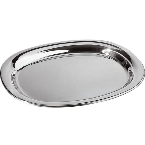 STAINLESS STEEL OVAL DISH - 9.75""