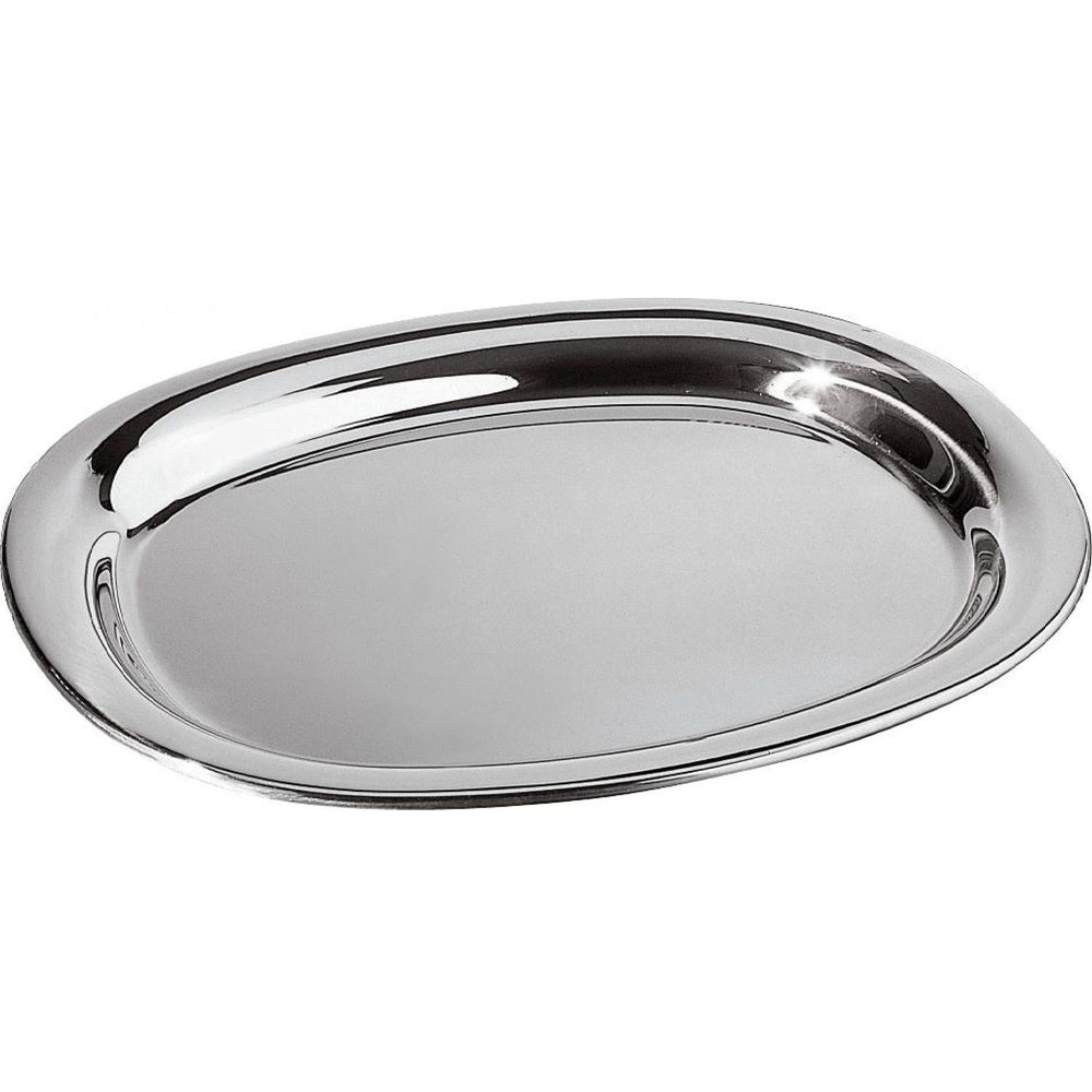 """STAINLESS STEEL OVAL DISH - 11.75"""""""