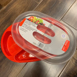 Plastic 5 Compartments Platter 13.4 x 8.7 x 2.8""