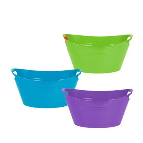 PLASTIC MINI STORAGE BIN - OVAL - SET OF 3